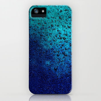 Sea Green Blue Texture iPhone & iPod Case by RichCaspian | Society6
