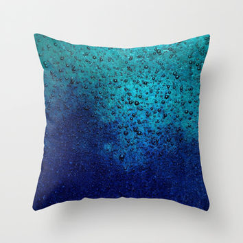Sea Green Blue Texture Throw Pillow by RichCaspian | Society6