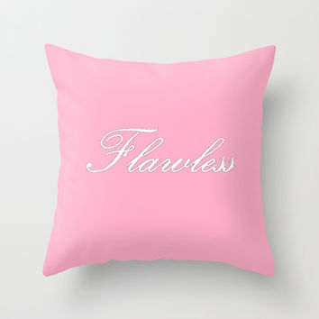 Flawless Pink Throw Pillow by 2sweet4words Designs | Society6
