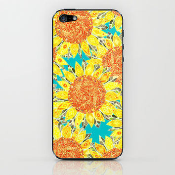 sunflower field iPhone & iPod Skin by Sharon Turner | Society6