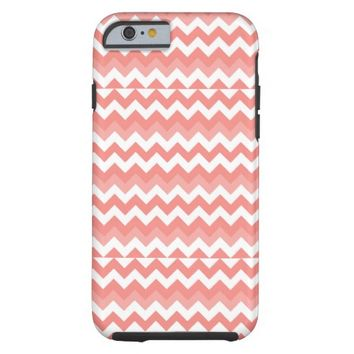 Coral White Chevron iPhone 6 Case