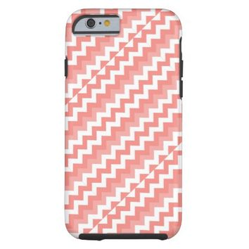 Coral White Diagonal Chevron iPhone 6 Case
