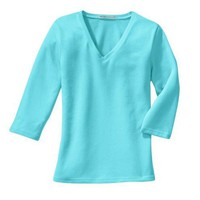 Port Authority - Ladies 3/4 Sleeve V-Neck T-Shirt (L341V)