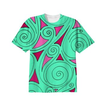 Mint swirl t-shirt created by duckyb | Print All Over Me