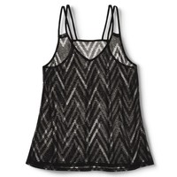 Junior's Strappy Racerback Tank Black