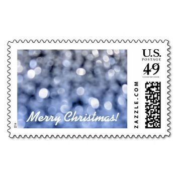 Sparks - Blue And Silver Merry Christmas Stamp