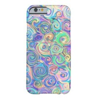 Colorful Cute Abstract Swirl Pattern iPhone 6 Case