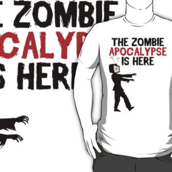 The Zombie Apocalypse Is Here - Funny Anti TV T Shirt