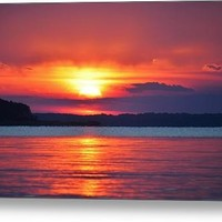 Ocean View Sunset Canvas Print
