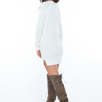 Cozy Chic Cable Knit Sweater Dress GoJane.com