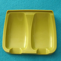 Vintage Olive Green Tupperware Spoon Rest 1226-2