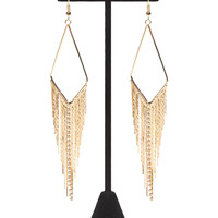 Diamond Fringe Drop Earrings | Wet Seal
