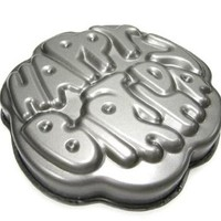 Chloe's Kitchen 203-184 Non-Stick Happy Birthday Cake Pan, Dark Grey