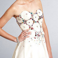 Colorful Strapless Dresses by Terani Couture