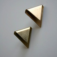 Triangle Fold Earrings by LauraLombardiJewelry on Etsy