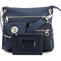Baggallini Sydney Bagg with Silver Hardware, Navy, One Size