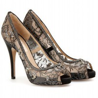 mytheresa.com -  Valentino - CRYSTAL EMBELLISHED LACE PUMPS - Luxury Fashion for Women / Designer clothing, shoes, bags