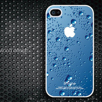 iphone 4 case iphone 4s case iphone 4 cover unique case blue water-drop  iphone case design