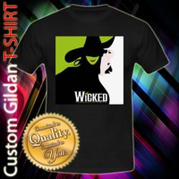 WICKED The New Musical Untold Story of The Witches Wizard of Oz Custom Black T-Shirt Size S-XXL