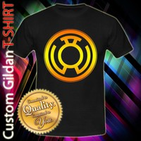 Yellow LANTERN CORPS Green Lantern DC Comic Ring Logo Custom Black T-Shirt Size S-XXL