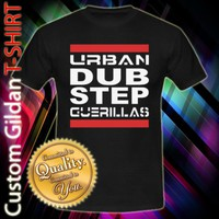 Urban Dubstep Guerillas Logo Custom Black T-Shirt Size S-2XL