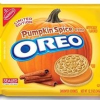 Oreo - Pumpkin Spice Creme Filling Sandwich Cookies 1x12.2oz Packet