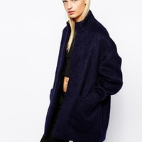 Y.A.S Coat in Fluffy Mohair at asos.com