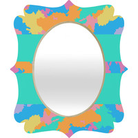 Rosie Brown The Color Green Quatrefoil Mirror