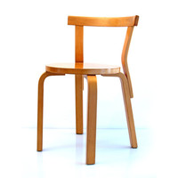 4 Alvar Aalto 68 Artek chairs - from the fifties, sixties, retro, eames, arne jacobsen, grete jalk, hans wegner, finn juhl style
