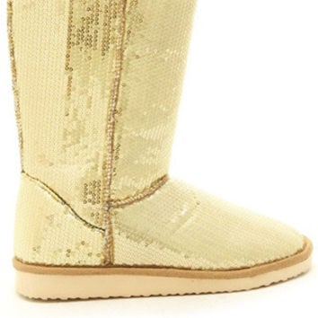 SEQUINS COZY MOUNTAIN SNOW BOOTS