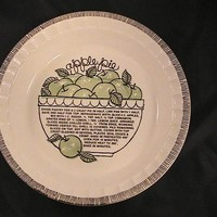 Vintage Royal China Jeanette USA Apple Pie Recipe Plate in excellent condition