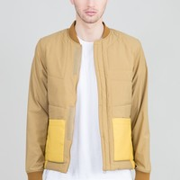 Padded Decio Jacket - Olive and Gold | Sale Outerwear