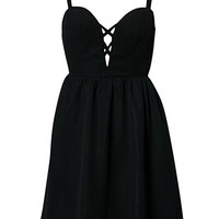 Deep Drop Bustier Dress