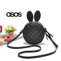 New Fashion ASOS Cute Bunny Cross Body Bag Rabbit Ears Mini Purse Multi-Colors