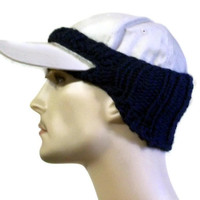 Baseball Cap Cover Knit Blue