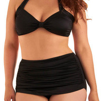 Bathing Beauty Two Piece in Black - Plus Size | Mod Retro Vintage Bathing Suits | ModCloth.com $89.99
