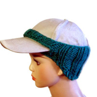 Baseball Cap Cover Knit Green