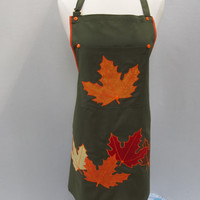 Fall Leaves Apron    O.O.A.K.
