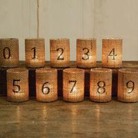 Burlap Votive Cup (Set of No. 1-30)