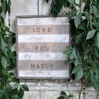 Reclaimed Wood Print-Love You Madly