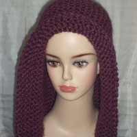 Hand Knit Hat Bonnet Pattern -  PDF File