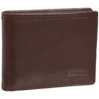 Fossil Midway Passcase Wallet,Brown,one size