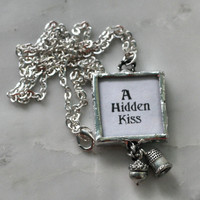 Thimble and Acorn Hidden Kisses Necklace Peter Pan and Wendy