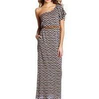 Willow & Clay Women`s Zig Zag Belted Dress