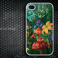 iphone 4 case iphone 4s case iphone 4 cover Comic flower  image design printing