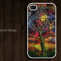 unique iphone 4 case iphone 4s case iphone 4 cover paint metal trees graphic design printing