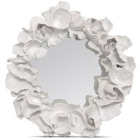 White Coco Coral Mirror glamorous wall decor