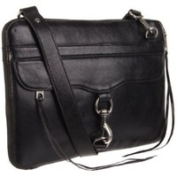 Rebecca Minkoff Mac Laptop Bag,Black Shine,One Size