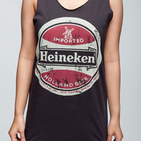 HEINEKEN Shirt Drink Dutch Beer Women Tank Top Black Shirts Tunic Top Vest Singlet Women T-Shirt Size L