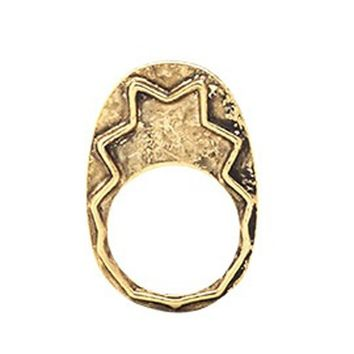 House of Harlow 1960 Jewelry Zig Zag Stacking Ring - Gold